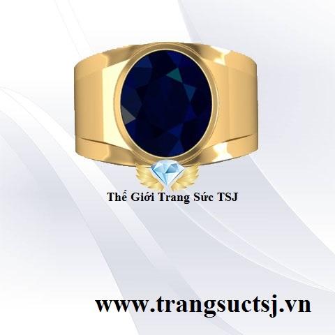 Nhẫn Sapphire Nam Sang Trọng