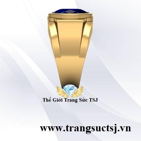 Nhẫn Vàng Nam Mặt Đá Sapphire