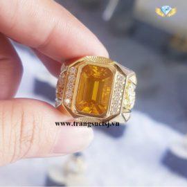 Nhẫn Nam Hình Rồng Đá Sapphire Vàng