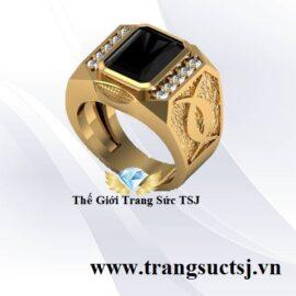 Nhẫn Sapphire Đen Nam Sang Trọng