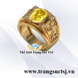 Nhẫn Vàng 18k Nam Đẹp Khắc Hình Khỉ