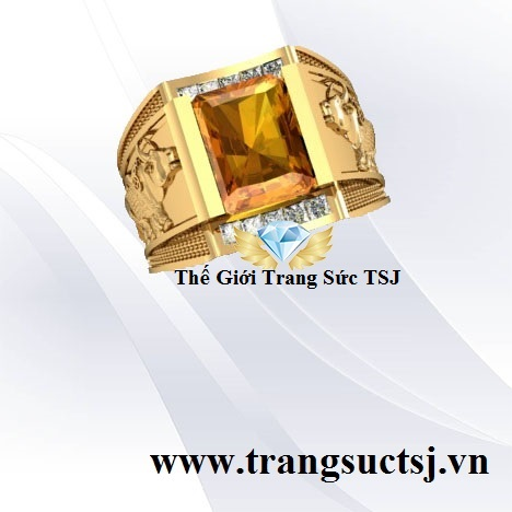 Nhẫn Ất Sửu Mệnh Kim Đá Sapphire Vàng