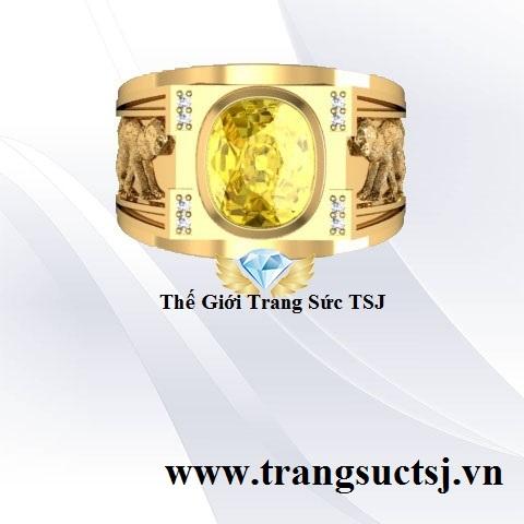Nhẫn Khỉ Đẹp Đính Đá Sapphire Thiên Nhiên