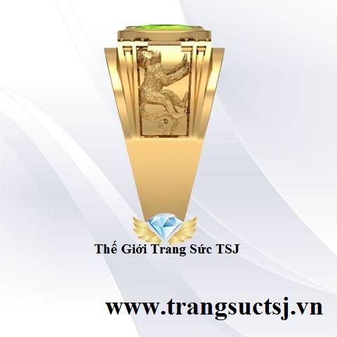 Nhẫn Mặt Đá Nam Kiểm Định SJC - Trang Sức Vàng