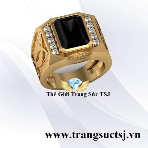 Nhẫn Nam Đẹp Mặt Đá Sapphire - Trang Sức TSJ