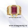 Nhẫn Nam Mặt Đá Đỏ Ruby Thiên Nhiên