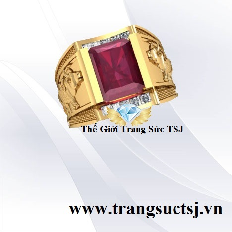 Nhẫn Nam Ruby Thiên Nhiên - Thế Giới Trang Sức Quận 1