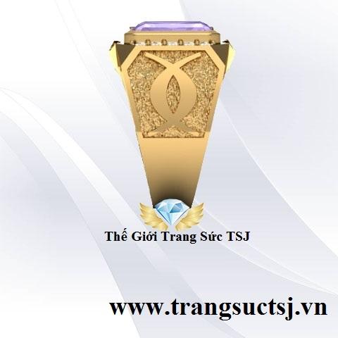 Nhẫn Nam Vàng 18k Đẹp Đơn Giản