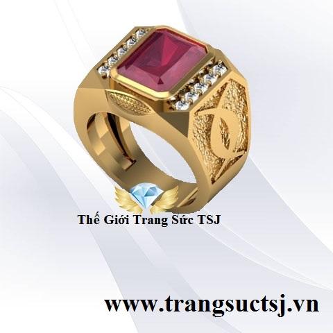 Nhẫn Ruby Đỏ Hợp Phong Thủy Cho Nam