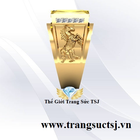 Nhẫn Sapphire Vàng Nam Sang TrọngTrang Sức TSJ