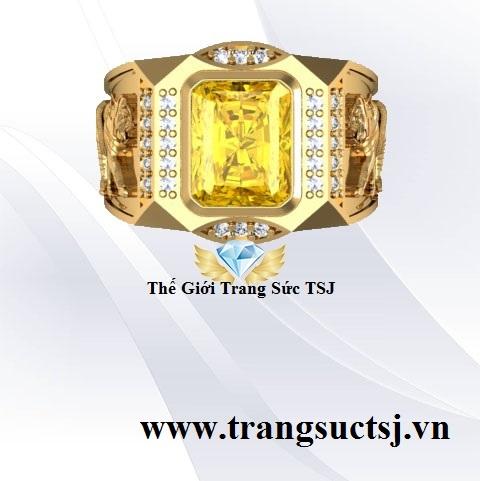 Nhẫn Sapphire Vàng Nam Sang Trọng