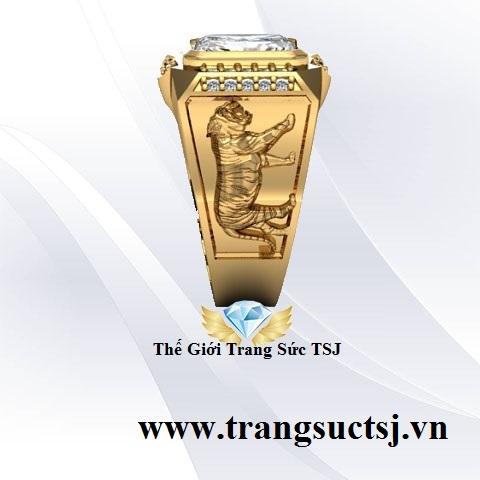Nhẫn Thạch Anh Nam Phong Cách
