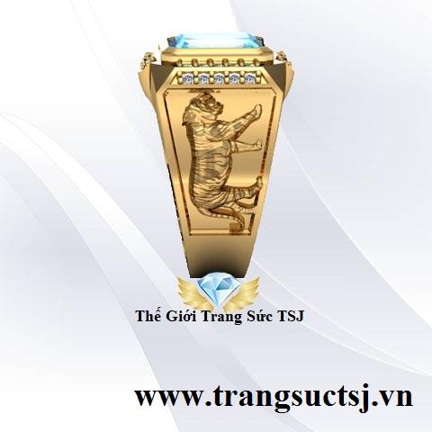 Nhẫn Thời Trang Cho Nam Vàng 18k