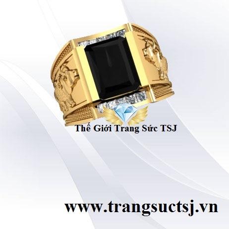 Nhẫn Vàng 18k Gắn Đá Sapphire Thiên Nhiên