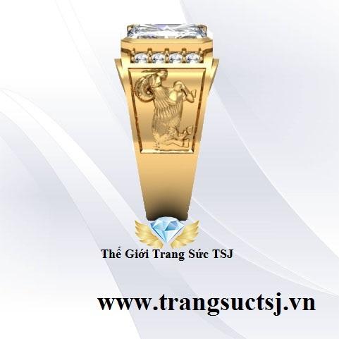 Nhẫn Topaz Trắng Đẹp Vàng 18k