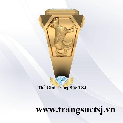 Nhẫn Nam Hình Tuất Đẹp Trang Sức TSJ