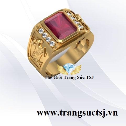 Nhẫn Nam Ruby Hợp Phong Thủy
