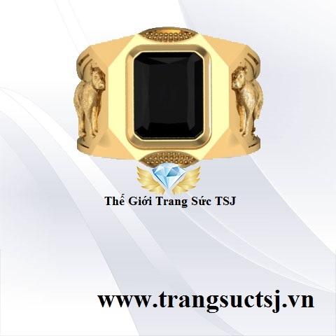 Nhẫn Nam Sapphire Đen Mệnh Thủy