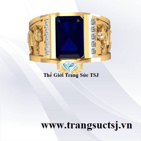 Nhẫn Nam Sapphire Hợp Phong Thủy Mệnh Thủy