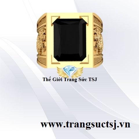 Nhẫn Nam Sapphire Rồng Hợp Mệnh Mộc