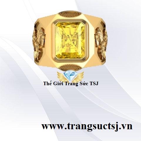 Nhẫn Nam Sapphire Vàng Quý Hiếm