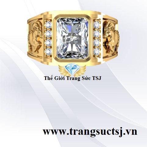 Nhẫn Nam Vàng Tây 18k Đẹp Cho Nam