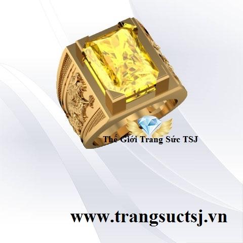 Nhẫn Sapphire Vàng Nam Đẹp Trang Sức Vàng