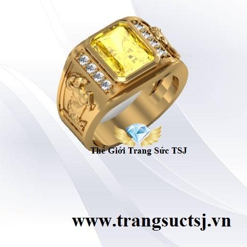 Nhẫn Sapphire Vàng Quý Hiếm Hợp Phong Thủy
