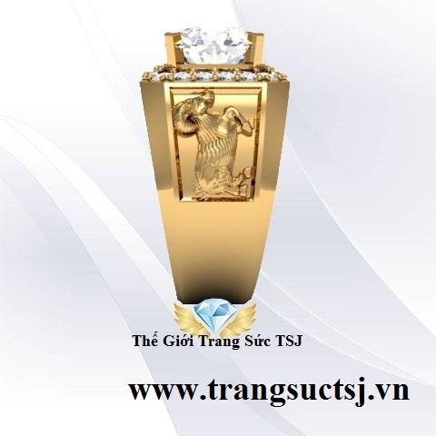Nhẫn Vàng 18k Đẹp Cho Nam Tuổi Mùi