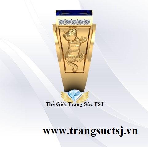 Nhẫn Vàng 18k Nam Đẹp Trang Sức Đá Quý
