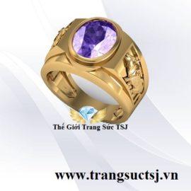 Nhẫn Nam Thạch Anh Vàng 18K Đẹp