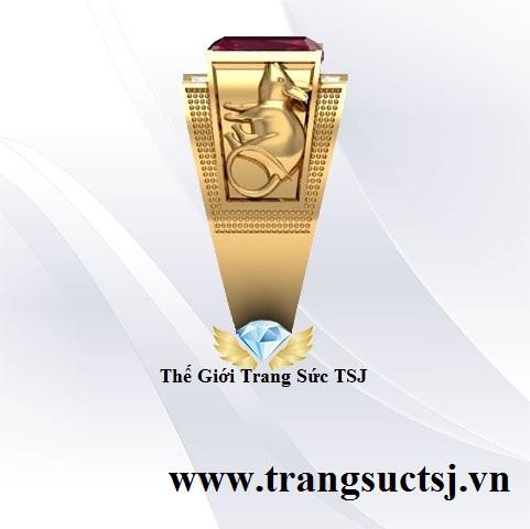 Nhẫn Chuột Tinh Xảo Vàng 18k Đẹp Cho Nam