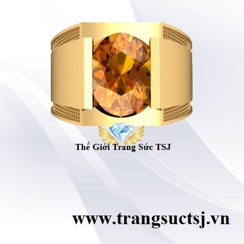 Nhẫn Citrine Vàng Đẹp Cho Nam Giới