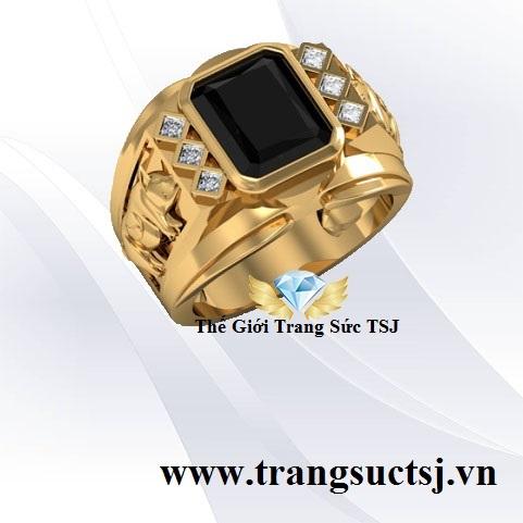 Nhẫn Mặt Đá Sapphire Nam Đẹp - Trang Sức TSJ TPHCM
