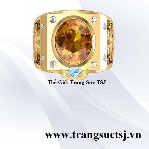 Nhẫn Nam Citrine Vàng Giao Hàng Toàn Quốc