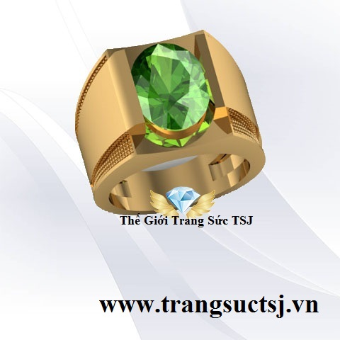 Nhẫn Nam Đá Quý Kiểm Định SJC - Thế Giới Trang Sức TSJ Quận 1