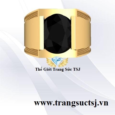 Nhẫn Nam Sapphire Đen Thời Trang - Trang Sức Nam