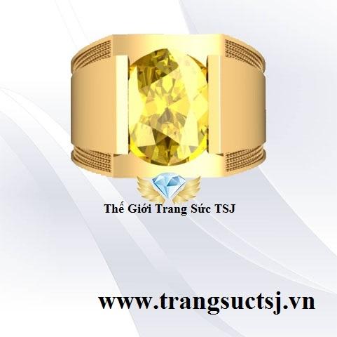 Nhẫn Nam Sapphire Vàng Sang Trọng TPHCM