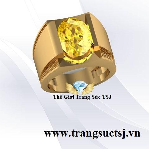 Nhẫn Nam Sapphire Vàng - Thế Giới Trang Sức TSJ