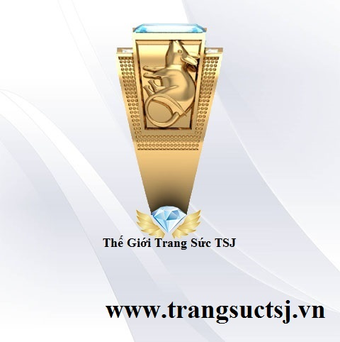 Nhẫn Vàng 18k Nam Đẹp TPHCM Đính Đá Quý