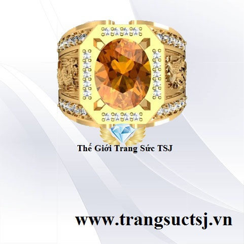 Nhẫn Vàng 18K Nam Hợp Phong Thủy Đẹp