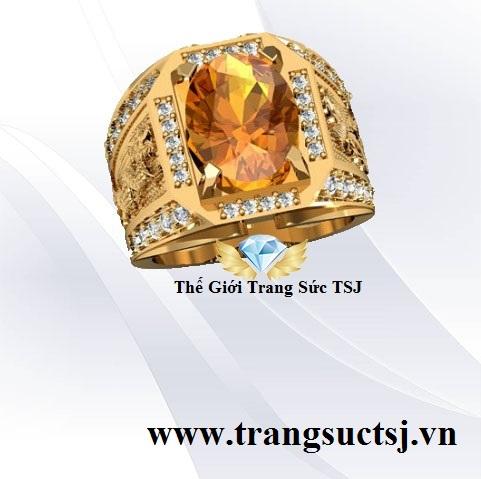 Nhẫn Vàng Nam Hợp Phong Thủy Mạng Kim - Trang Sức TSJ