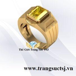 Nhẫn Nam Sapphire Vàng Thiên Nhiên Đẹp