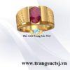 Nhẫn Kiểu Nam Vàng 18k Đá Ruby Đỏ