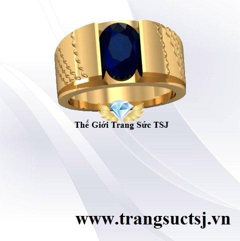 Nhẫn Sapphire Xanh Bích Thiên Nhiên