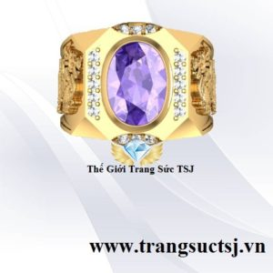 Nhẫn Vàng Nam Thạch Anh Tím - Trang Sức TSJ