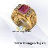 Nhẫn Phong Thủy Nam Mệnh Thổ Đá Ruby
